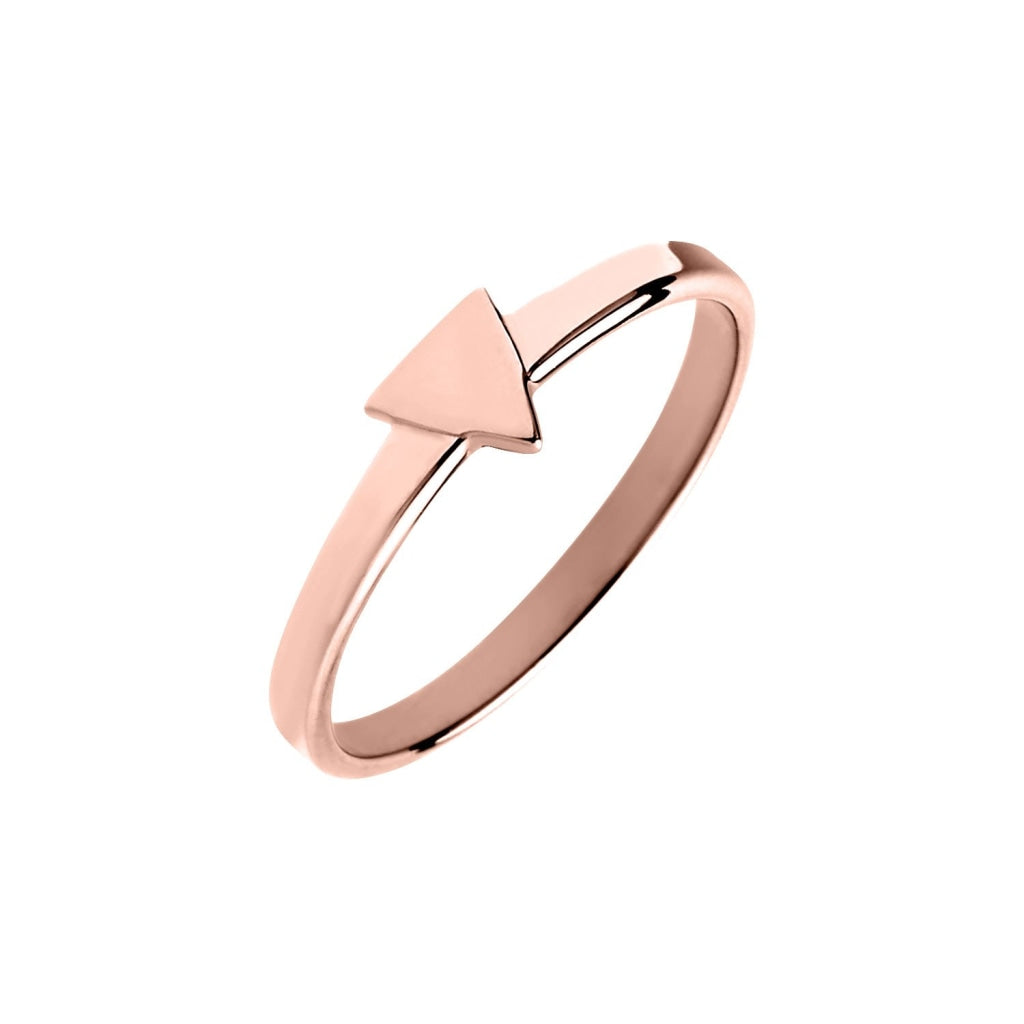 Novus Si - Triangle Ring Rose Gold Plated Silver 925 52