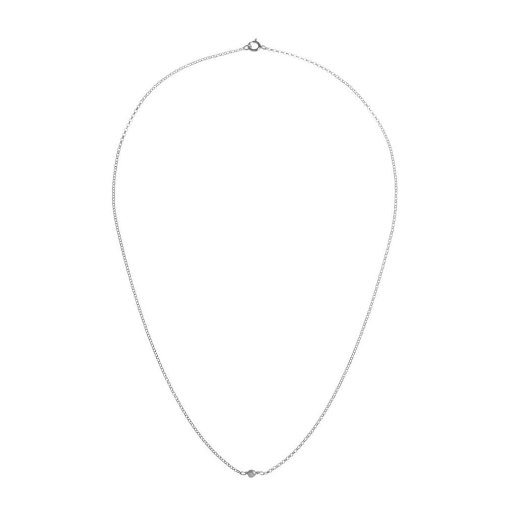 Omnia Solitaire Necklace - White Pearl - White Rhodium Plated Silver - Spirito Rosa | Βραβευμένα Κοσμήματα σε Απίστευτες Τιμές