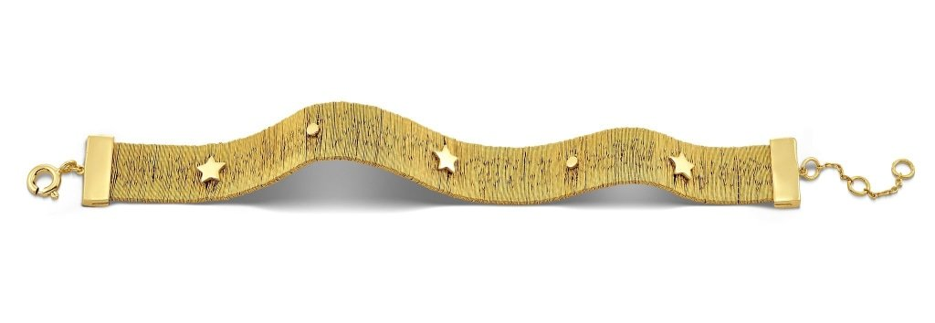Spirito Rosa X Queen Dina Armour Bracelet | Gold Plated 925 Silver