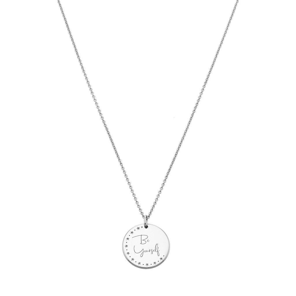 Spirito Rosa X Queen Dina Be Yourself Necklace | White Rhodium Plated 925 Silver - Spirito Rosa | Βραβευμένα Κοσμήματα σε Απίστευτες Τιμές