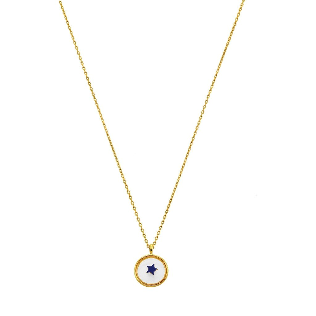Spirito Rosa X Queen Dina Blue Star Necklace | Gold Plated 925 Silver - Spirito Rosa | Βραβευμένα Κοσμήματα σε Απίστευτες Τιμές
