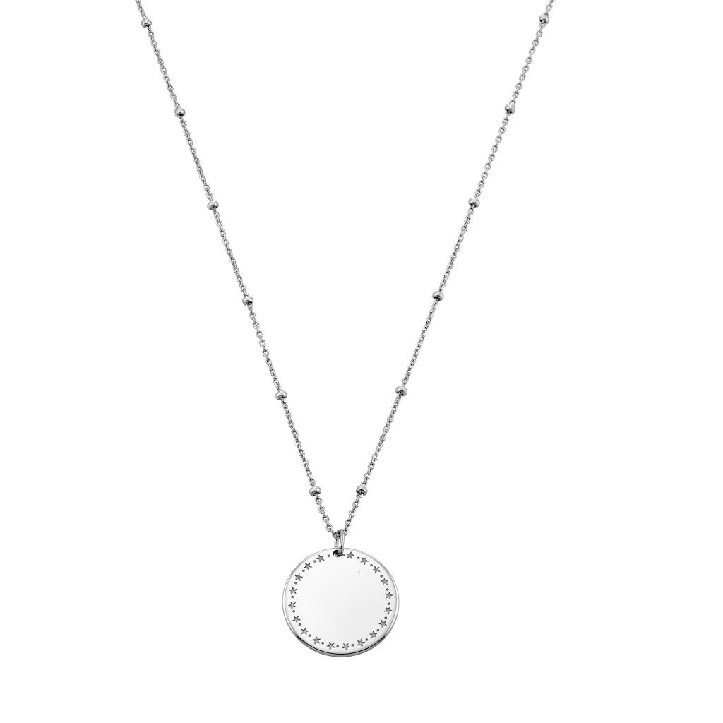 Spirito Rosa X Queen Dina Circle of Life Necklace | White Rhodium Plated 925 Silver - Spirito Rosa | Βραβευμένα Κοσμήματα σε Απίστευτες Τιμές