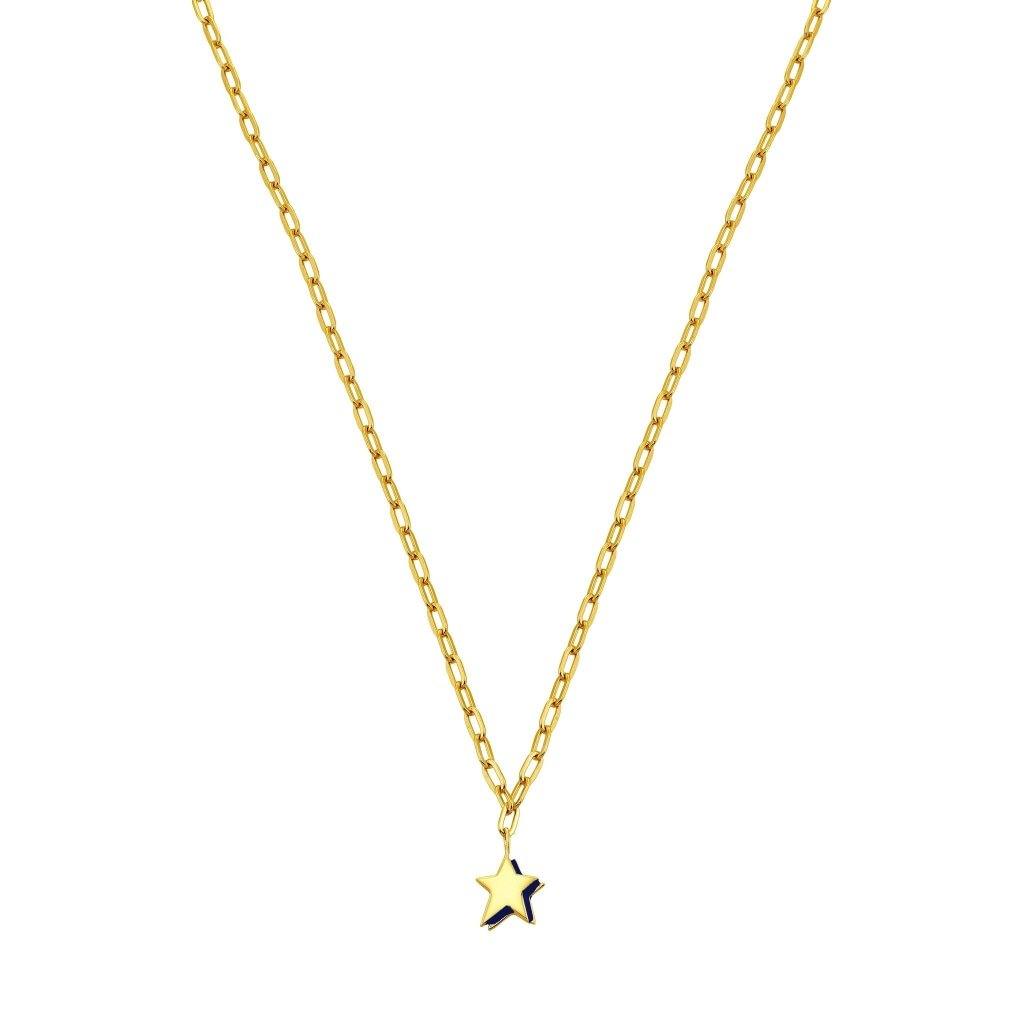 Spirito Rosa X Queen Dina Night Star Necklace | Gold Plated 925 Silver - Spirito Rosa | Βραβευμένα Κοσμήματα σε Απίστευτες Τιμές