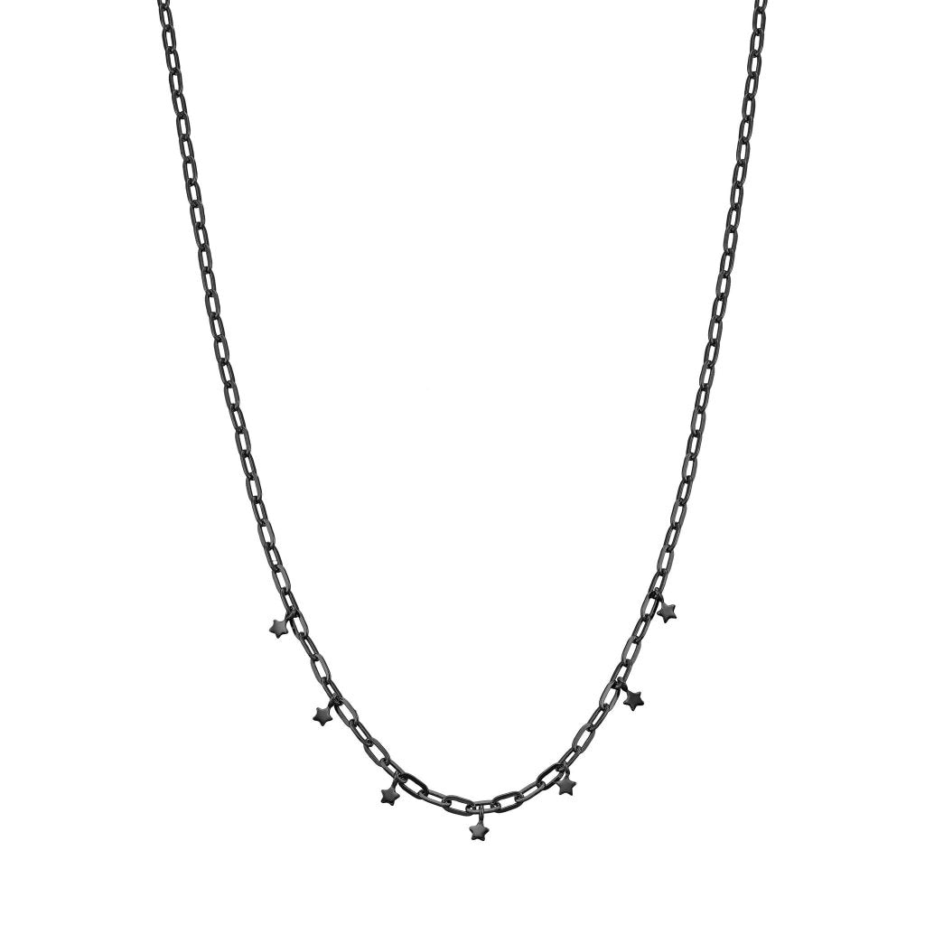 Spirito Rosa X Queen Dina Twinkle Twinkle Necklace | Black Rhodium Plated 925 Silver - Spirito Rosa | Βραβευμένα Κοσμήματα σε Απίστευτες Τιμές