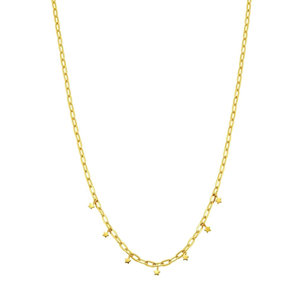 Spirito Rosa X Queen Dina Twinkle Twinkle Necklace | Gold Plated 925 Silver - Spirito Rosa | Βραβευμένα Κοσμήματα σε Απίστευτες Τιμές