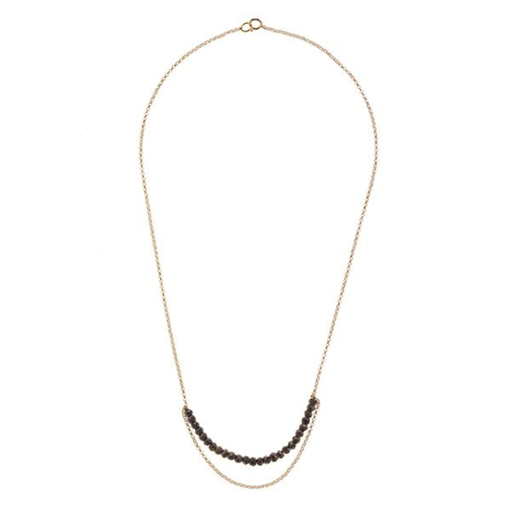 Tantum Chain Short Necklace - Pyrite Gold Plated Silver