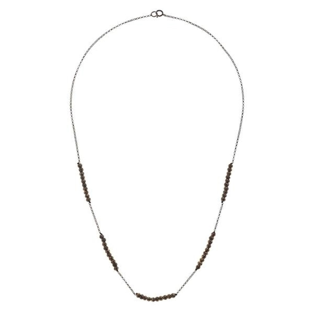 Tantum Quintus Short Necklace - Pyrite Black Rhodium Plated Silver
