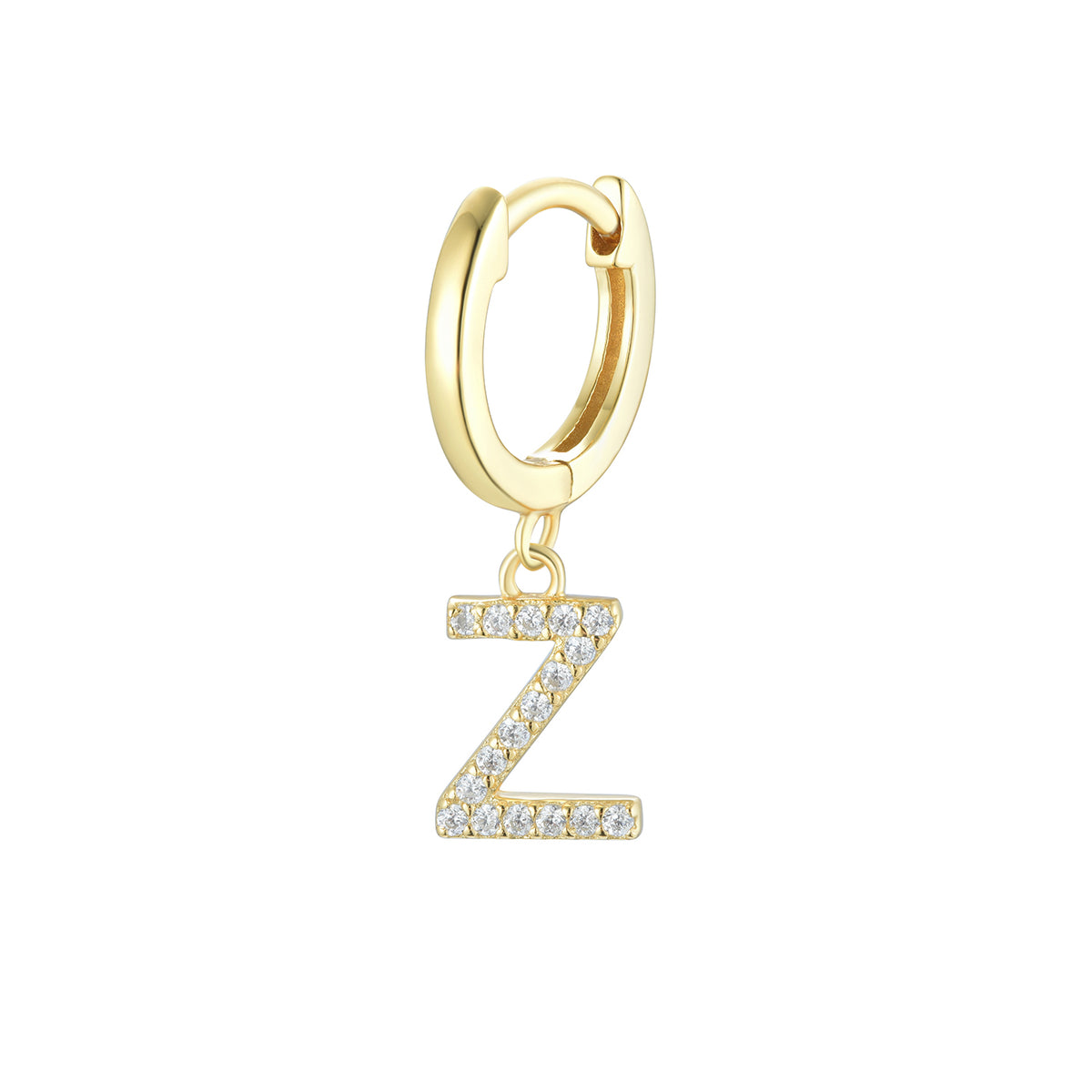 Magna | Z Letter Single Earring | White CZ | 18K Gold Plated 925 Silver