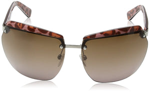Just Cavalli - Occhiali da sole JC503S Scudo, Tortoise Effect Havana Frame / Light Brown Gradient Marche Famose