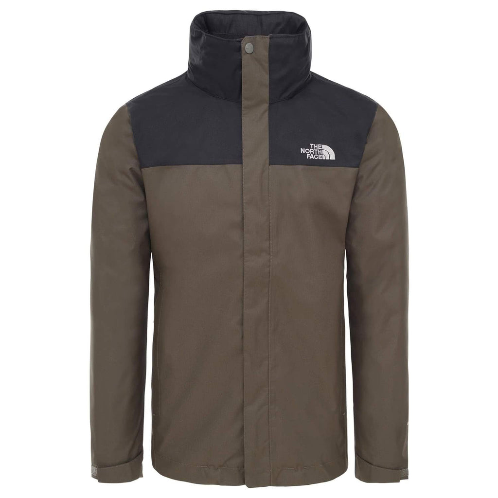 Sport The North Face M Evolve II Tri Jkt, Giacca Impermeabile Uomo, Verde (New Taupe Green), L Marche Famose
