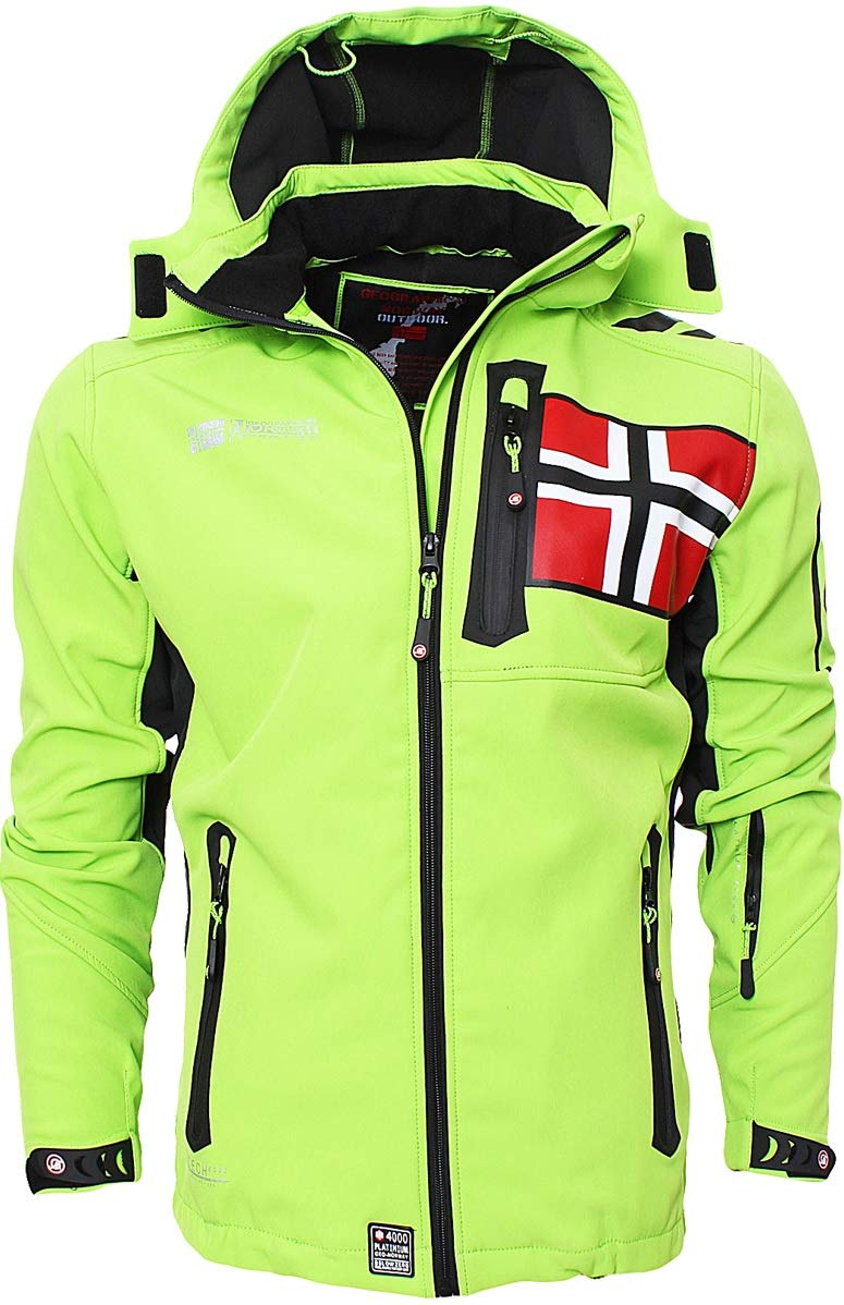 Abbigliamento Geographical Norway -  Giacca - Giacca in Softshell - Uomo Verde XL Marche Famose