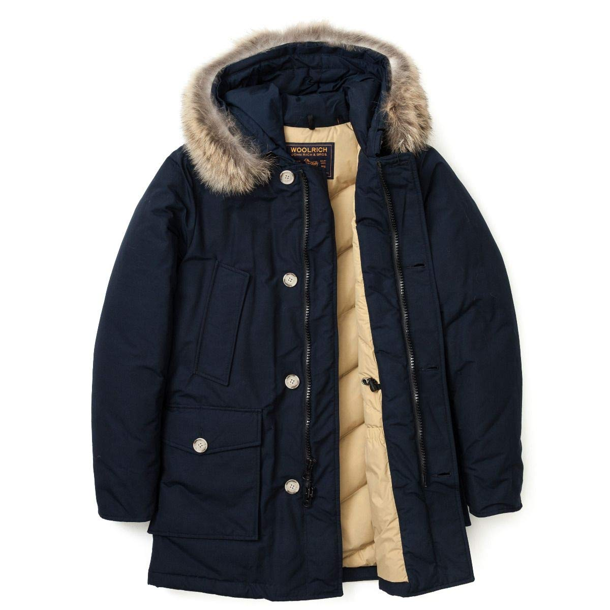 WOOLRICH WOCPS1674-CN01-MLB Arctic Parka DF MELTON BLUE (blu navy) Marche Famose
