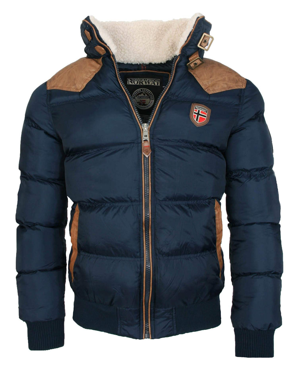 Abbigliamento Geographical Norway -  Giacca - Trench - Manica Lunga - Uomo Blu Navy S Marche Famose