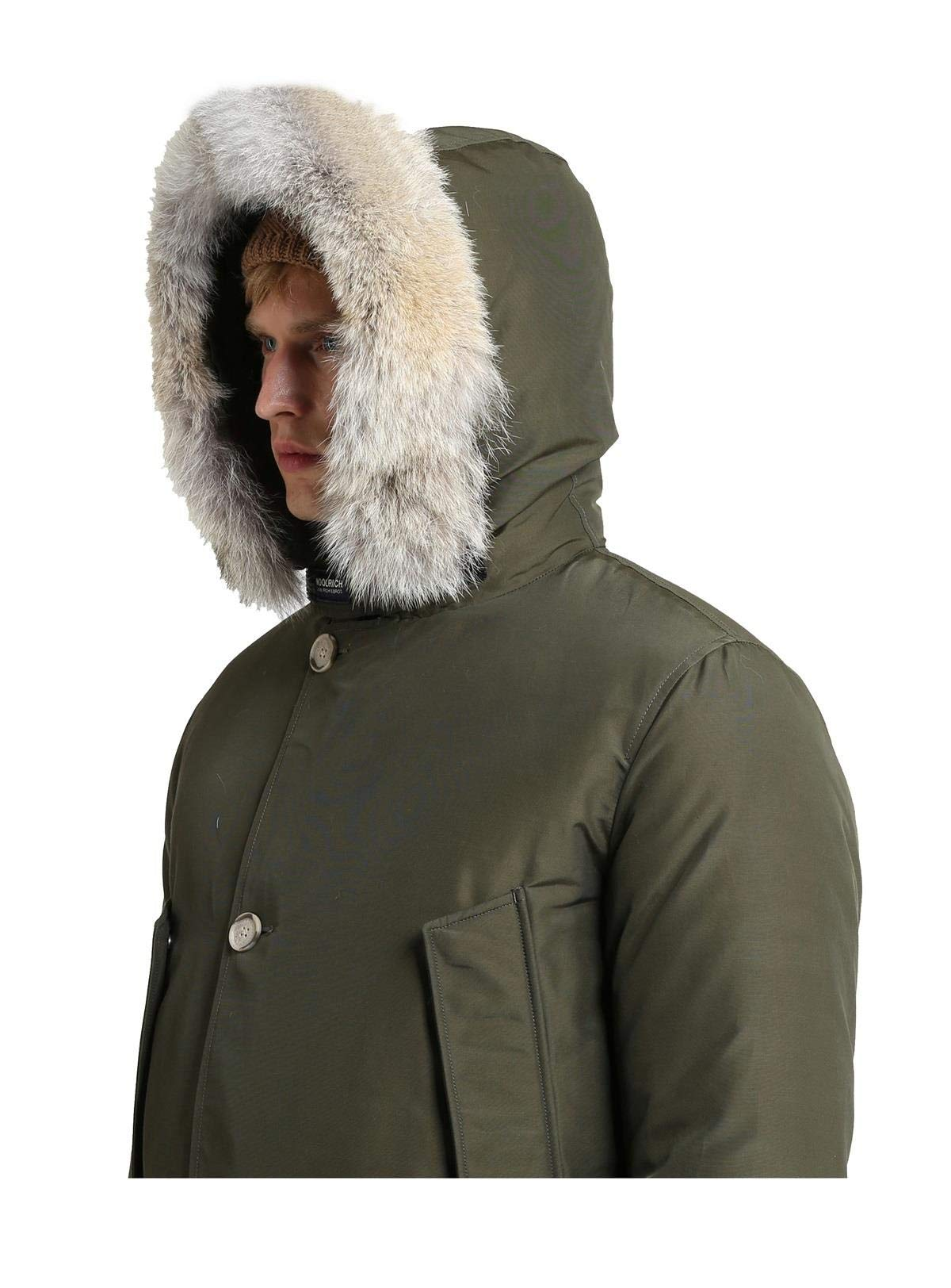 Woolrich WOCPS167S CN01 Parka Uomo DF Verde Scuro S Marche Famose