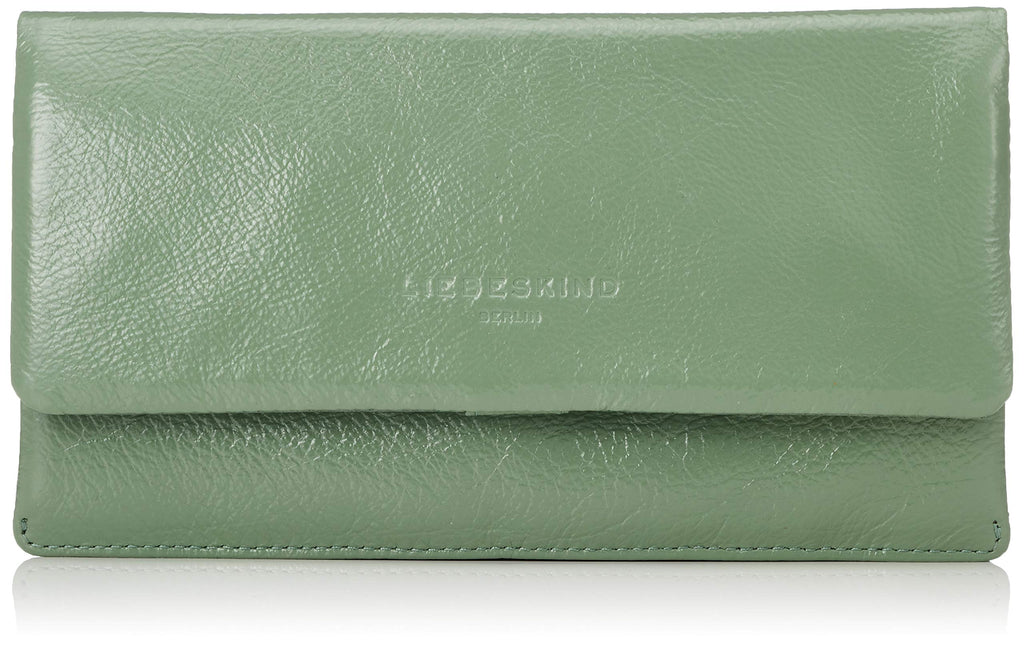 Scarpe Liebeskind Berlin Glossy Slg Slam Wallet Large - Portafogli Donna, Verde (Hedge Green), 3x10x19 cm (B x H T) Marche Famose