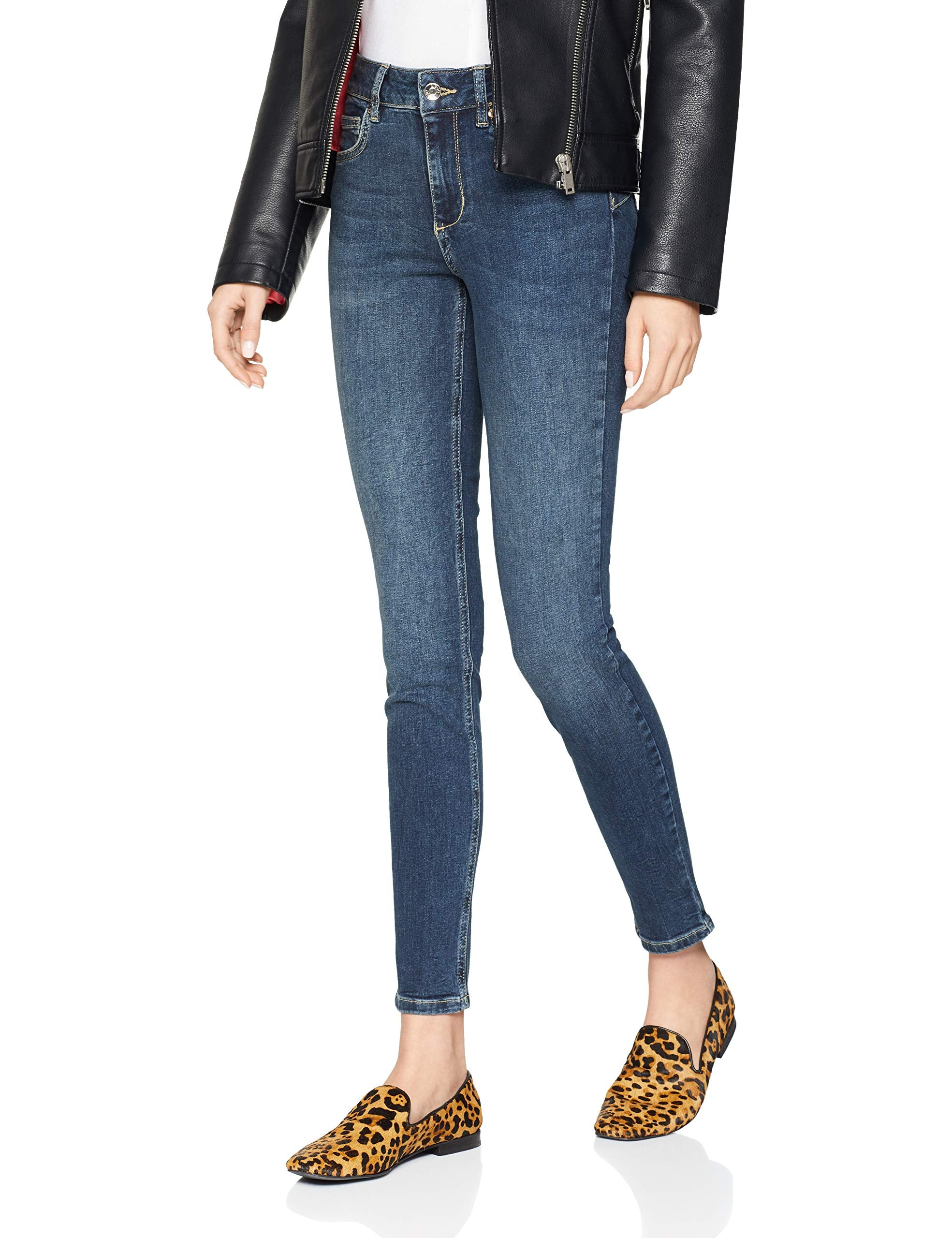 Liu Jo Bottom Up Divine Jeans Skinny, Blu (den.Blue Poppy Wash 77614), 31W x 30L Donna Marche Famose