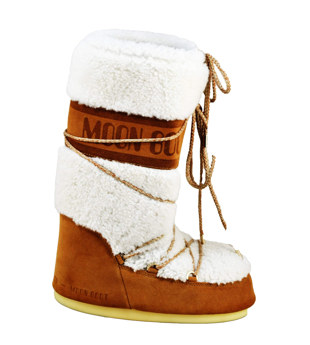 Scarpe Unisex Adults Tecnica Moon Boot Classic Premium Wool Winter Warm Boots - Sand/off White - 6-7.5 Marche Famose