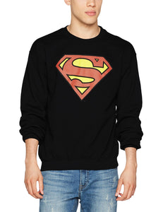 DC Comics Dc Originals Official Superman Shield Felpa, Nero (Black 001), L Uomo Marche Famose