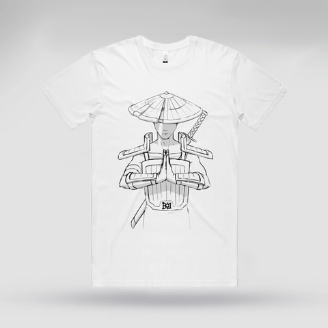 Bow Warrior White Tee