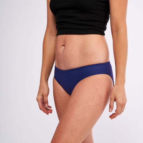 Modibodi Swimwear Bikini Pants Navy Light-Moderate |ModelName:Lauren S