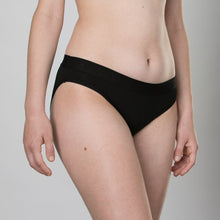 Load image into Gallery viewer, Teen Period Underwear - RED Modibodi Hipster Bikini - Black