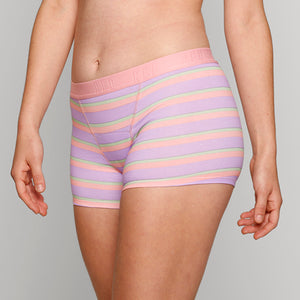 Teen Period Underwear - RED Modibodi Hipster Boyshort - Rainbow Stripes