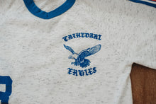 Load image into Gallery viewer, Vintage Team Shirt Cathedral Eagles School Jersey Reach Manufacture 50/50 Blend Small