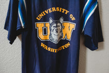 Load image into Gallery viewer, Vintage 1980's Tee University of Washington Collegiate Shirt Huskies S