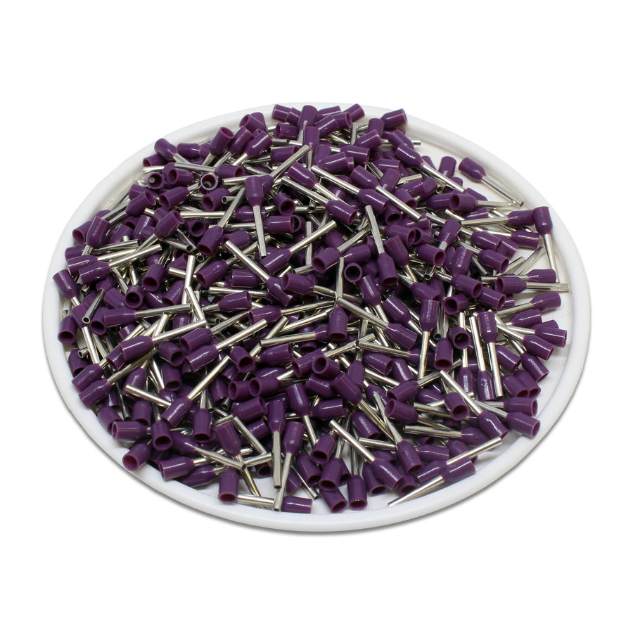 24 AWG (8mm Pin) Insulated Ferrules - Purple