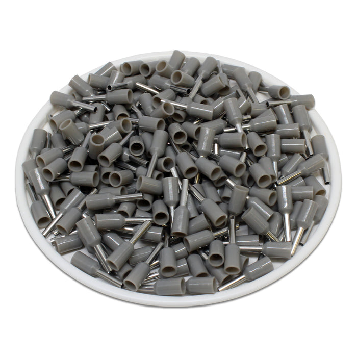 20 AWG (6mm Pin) Insulated Ferrules - Gray