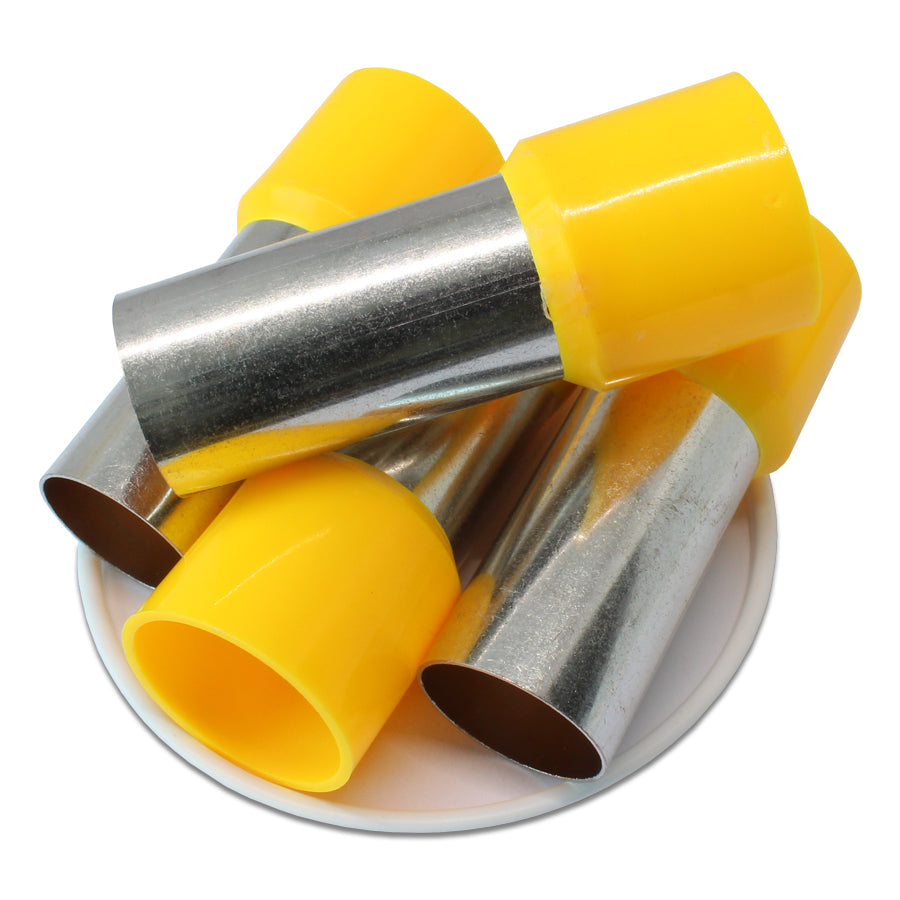 300MCM (38mm Pin) Insulated Ferrules - Yellow