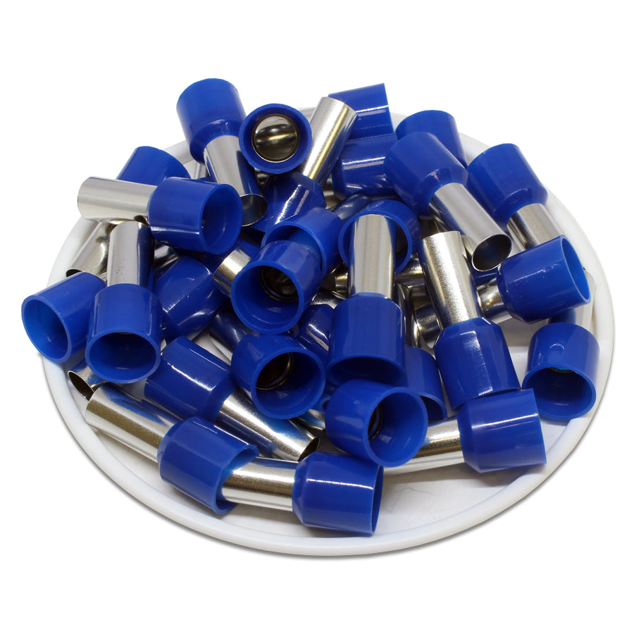 6 AWG (12mm Pin) Insulated Ferrules - Blue
