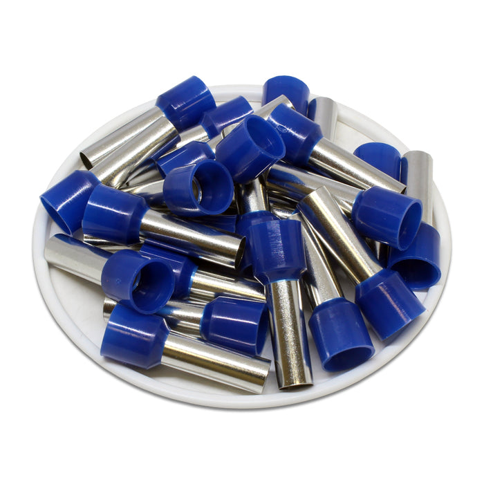 6 AWG (18mm Pin) Insulated Ferrules - Blue