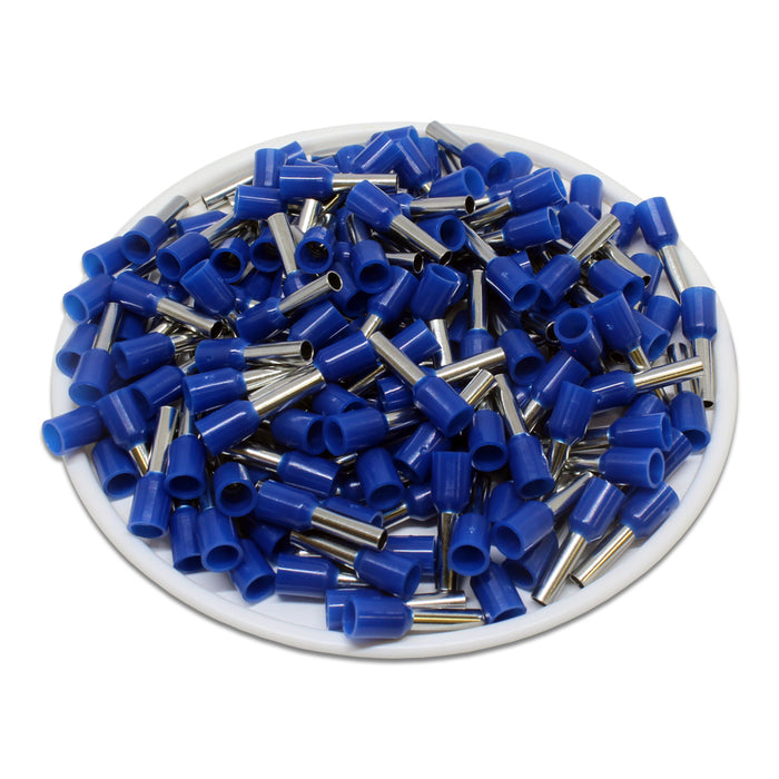 True 14 AWG (8mm Pin) Insulated Ferrules - Blue