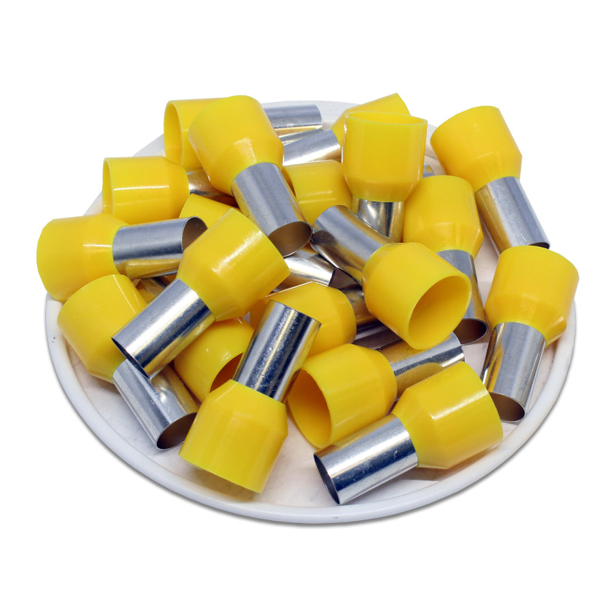 4 AWG (12mm Pin) Insulated Ferrules - Yellow