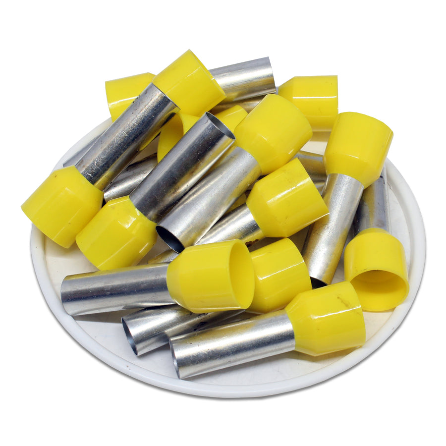 4 AWG (22mm Pin) Insulated Ferrules - Yellow