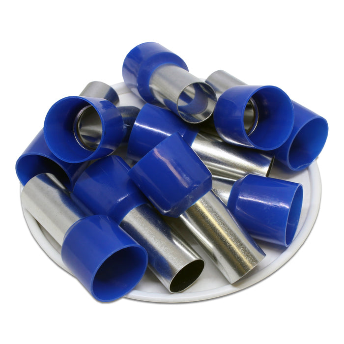 AD500020 - 1 AWG (20mm Pin) Insulated Ferrules - Blue