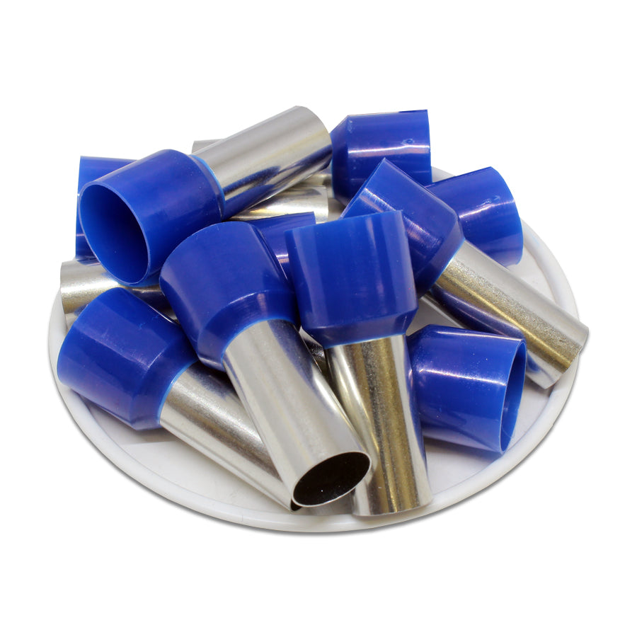 AD500022 - 1 AWG (22mm Pin) Insulated Ferrules - Blue