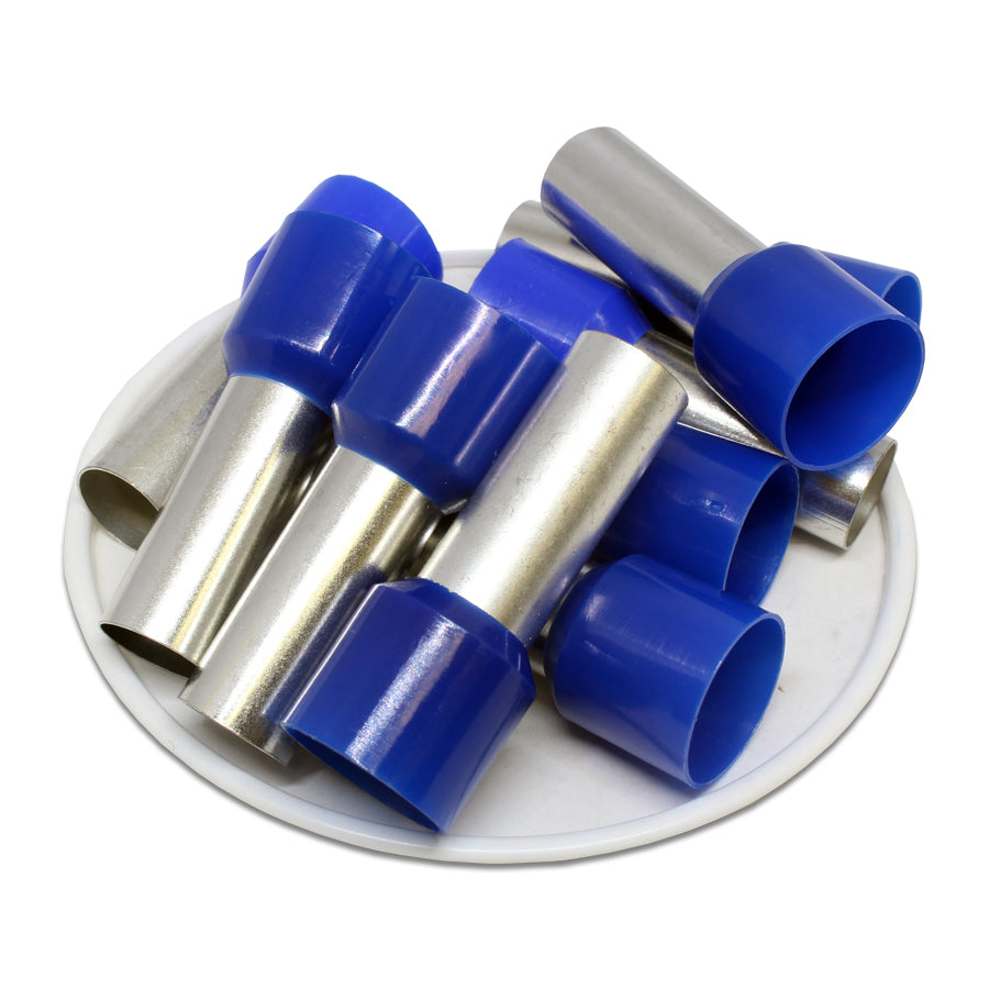AD500025 - 1-1/0 AWG (25mm Pin) Insulated Ferrules - Blue