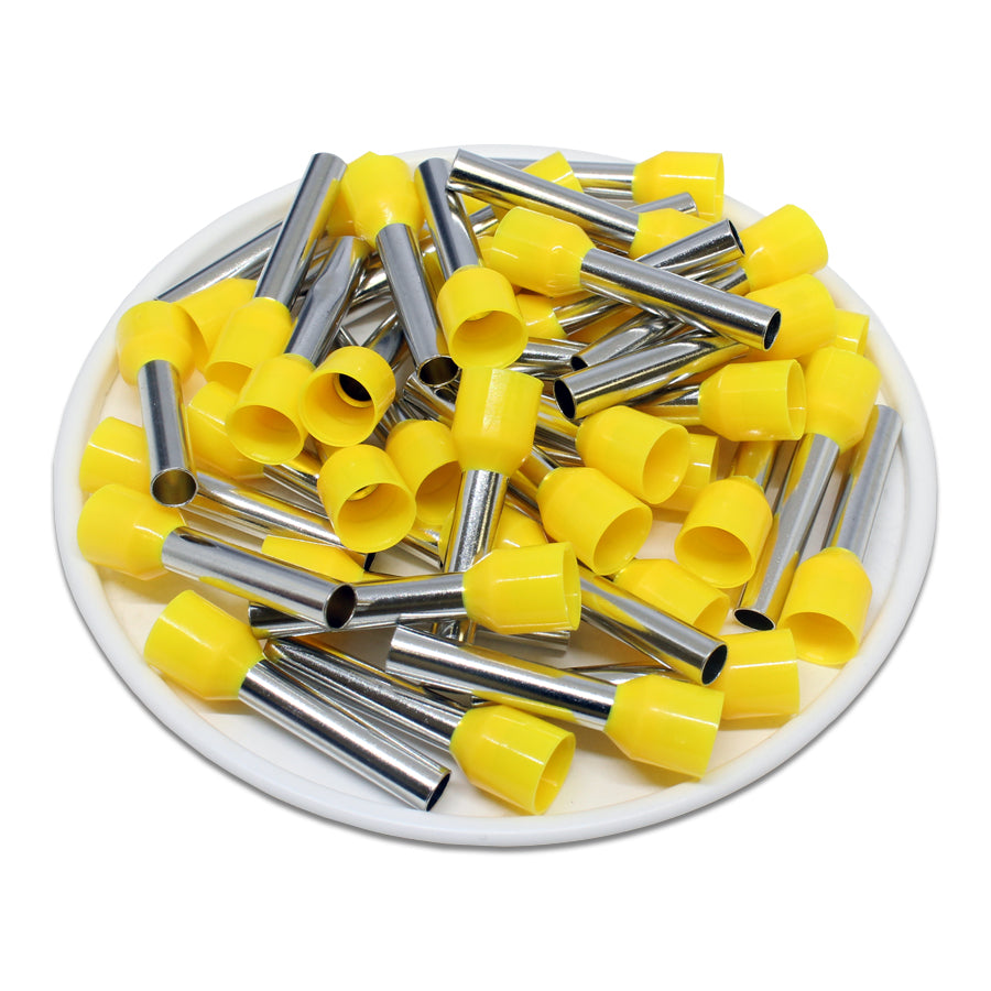 AD60018 - 10 AWG (18mm Pin) Insulated Ferrules - Yellow