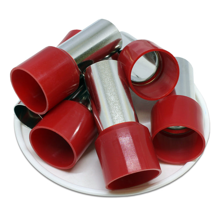 3/0 AWG (25mm Pin) Insulated Ferrules - Red