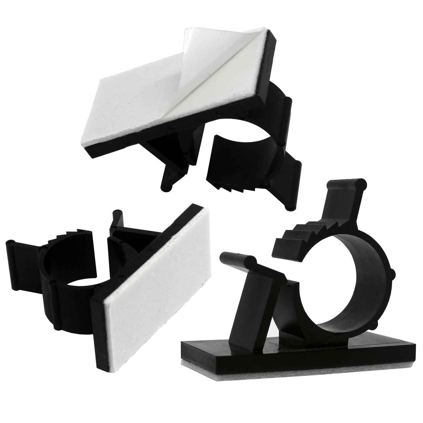 Self-Adhesive Adjustable Cable Clamps
