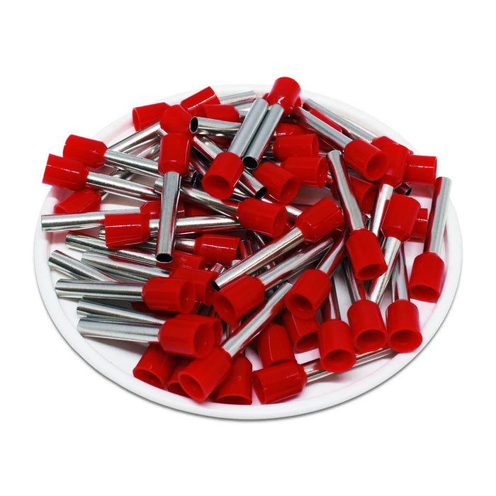 AS40018RD - 12 AWG (18mm Pin) Insulated Ferrules - Red - Special Color