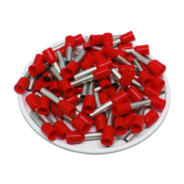 AS40012RD - 12 AWG (12mm Pin) Insulated Ferrules - Red - Special Color