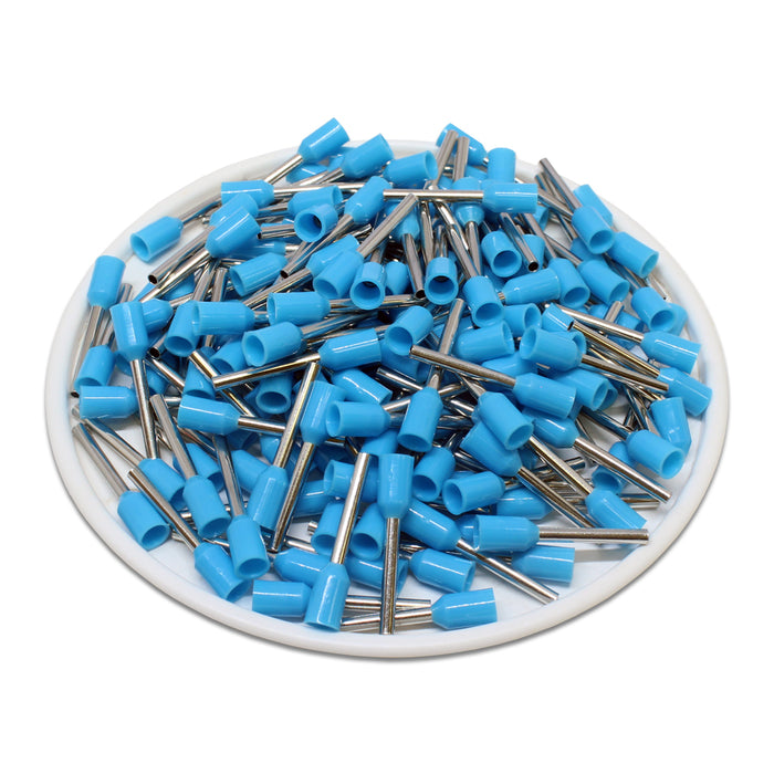 20 AWG (12mm Pin) Insulated Ferrules - Blue