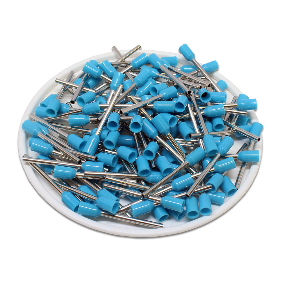 20 AWG (18mm Pin) Insulated Ferrules - Blue