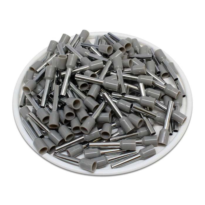 True 14 AWG (12mm Pin) Insulated Ferrules - Gray