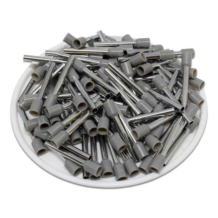 True 14 AWG (18mm Pin) Insulated Ferrules - Gray
