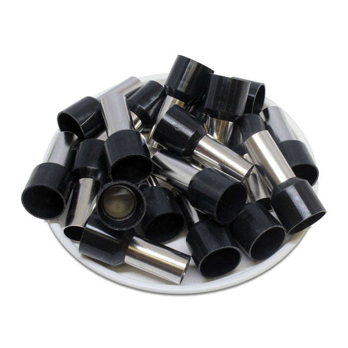 4 AWG (15mm Pin) Insulated Ferrules - Black