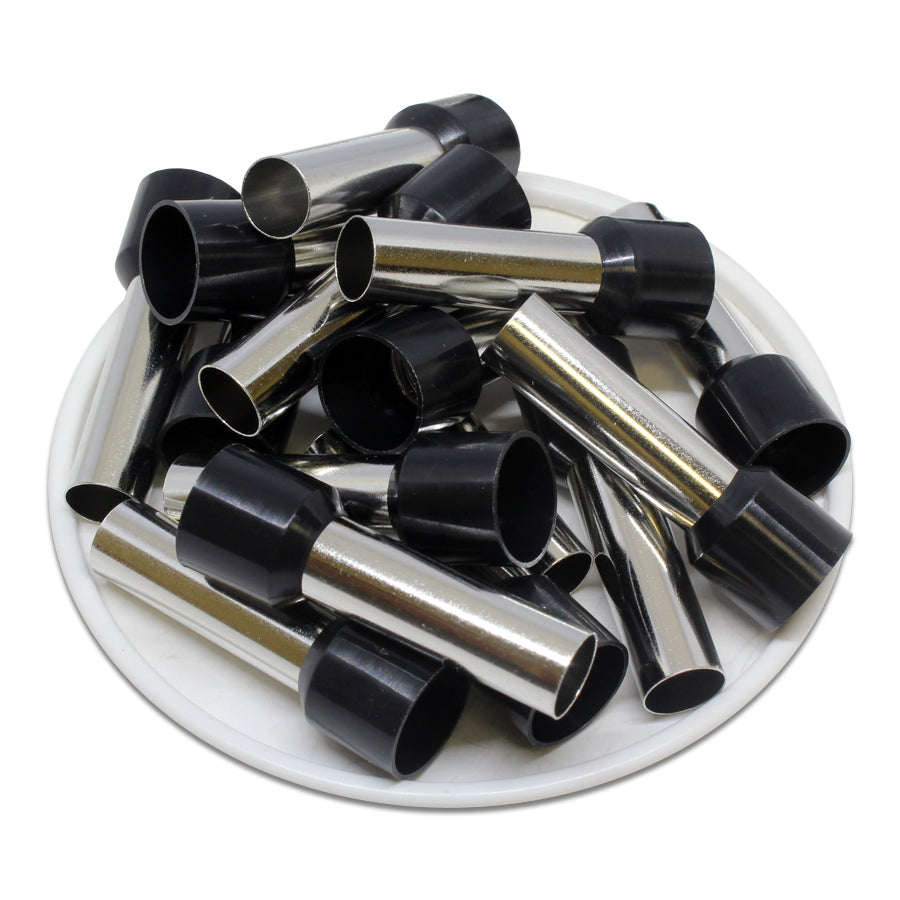 4 AWG (25mm Pin) Insulated Ferrules - Black